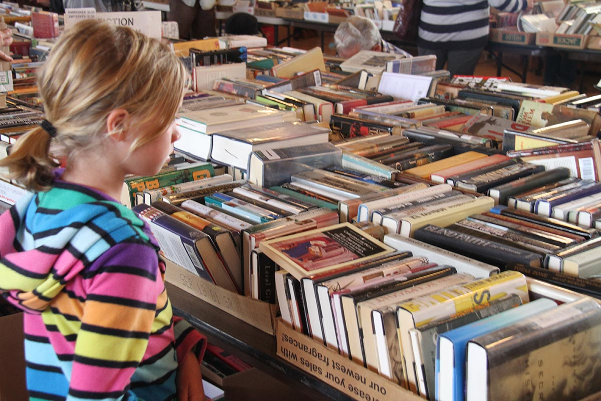 Image of girl at book fair