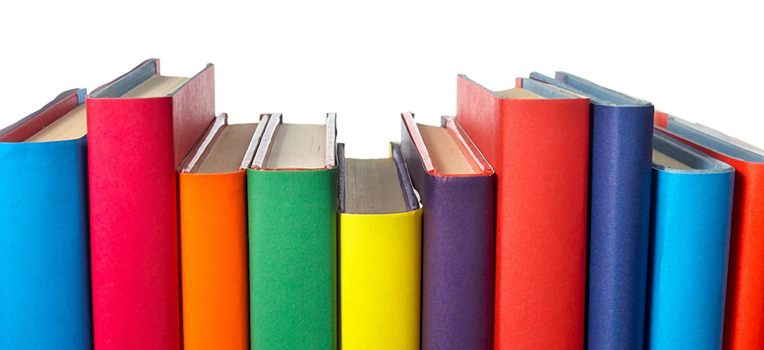 Photo of colourful books